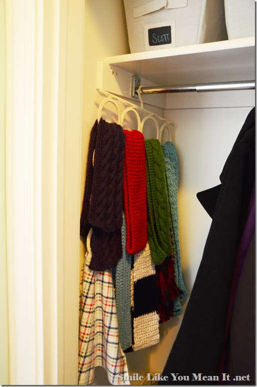 Scarves on an Ikea Accessory Hanger
