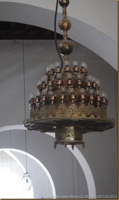 Detalle de una de sus lámparas