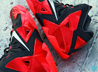 nike lebron 11 gr black red 8 16 New Photos // Nike LeBron XI Miami Heat (616175 001)