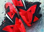 nike lebron 11 gr black red 8 16 New Photos // Nike LeBron XI Miami Heat (616175 001)