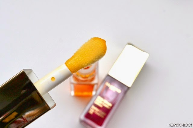 Clarins Spring Makeup Collection 2015 Instant Light Lip Comfort Oil in Raspberry and Honey Review Swatches (2)