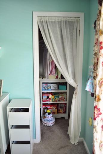 Curtains Closet Hangers: Kids Closet Without Doors.