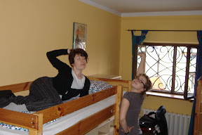 Yev and Alexi, posing in the Krakow hostel!