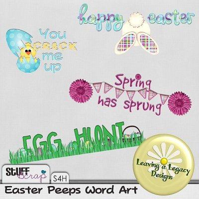 Easter Peeps - Wordart
