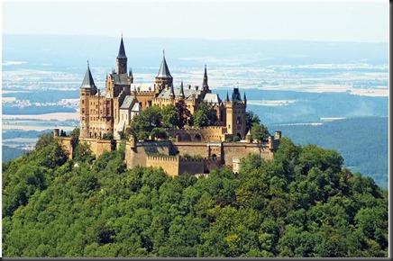 Hohenzollern Castle (Swabian Alb, Germany) then.