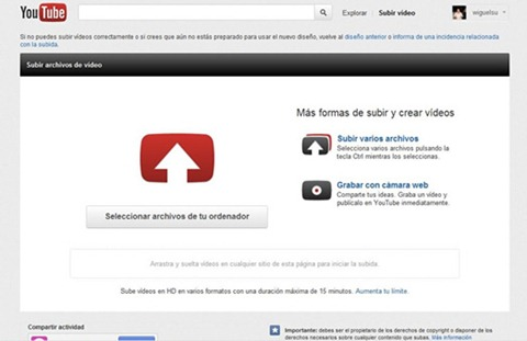 Youtube -  opciones de privacidad