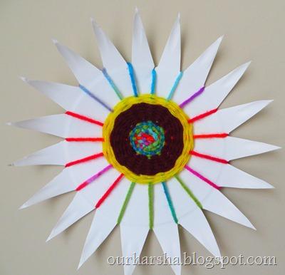 Paper Plate Weaving (10) & My Hobbies::: Paper Plate Weaving