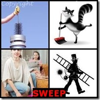 SWEEP- 4 Pics 1 Word Answers 3 Letters