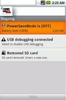Screenshot of Power Save Mode Toggle
