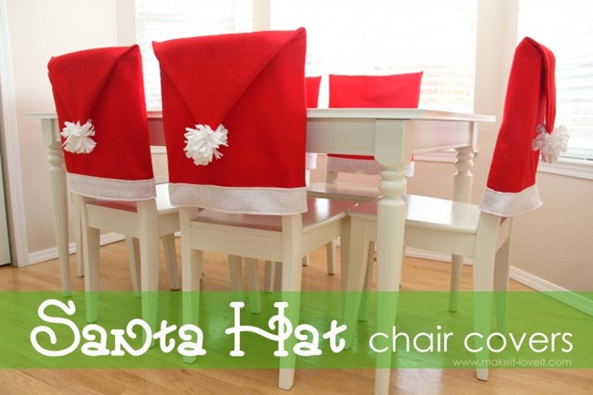Santa's Hat chair covers