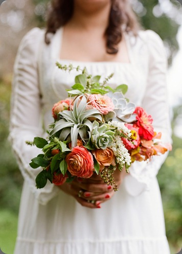 bride's bouquet poppies and posies
