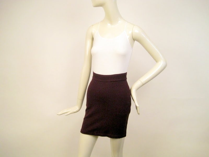 Alaia Aubergine Mini Skirt