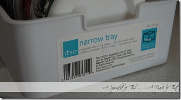 Small Freezer bins from Target {A Sprinkle of This . . . . A Dash of That}
