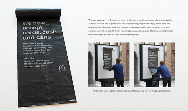 Mcdonalds acepta latas
