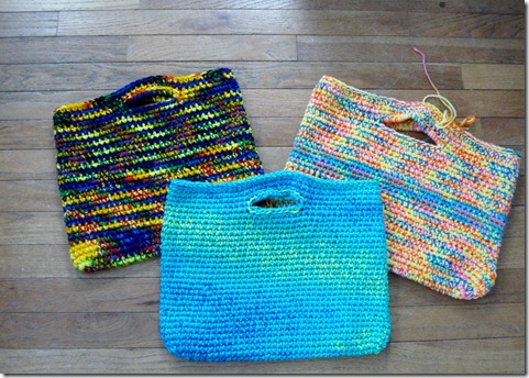 Easy Backpack Crochet Pattern : Knitting Dragonflies: Easy Laptop Bag Pattern (crochet)
