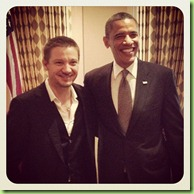 Obama jeremy renner hawkeye the avengers