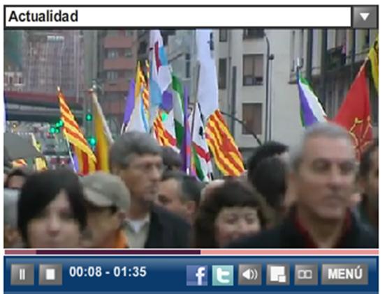 Fòto EFE de la manifestacion de Bilbo dissabte 7 de genièr 2012 1