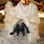 matt in a snow castle in Seefeld, Tirol, Austria