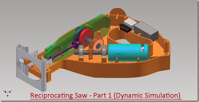 Reciprocating Saw Part 1 - Dynamic Simulation (Video Tutorial)