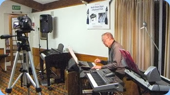 Colin Crann completed the evenings entertainment on his Korg Pa3X 76 note keyboard. Photo courtesy of Dennis Lyons.
