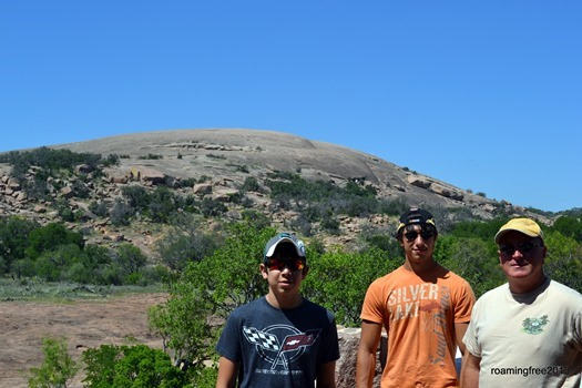 Getting ready to climb Enchanted Rock!