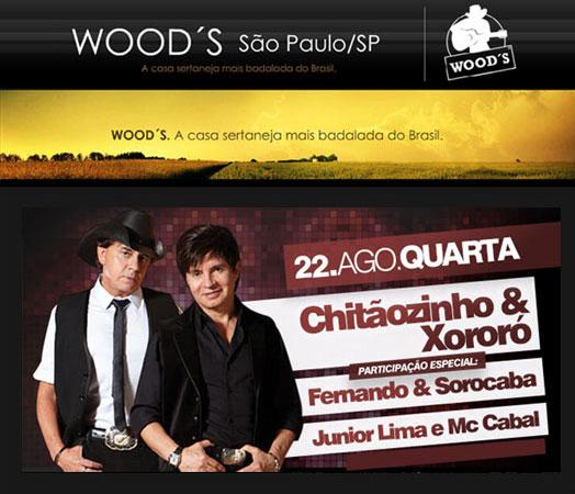 Chitãozinho & Xoxoró no Wood's em São Paulo