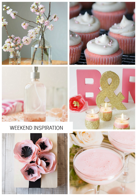 Weekend Inspiration: Pink - cherry blossoms cupcakes and more