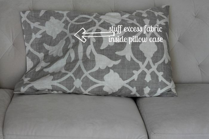 no-sew pillow