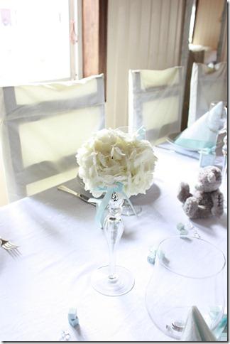barnedåp inspirasjon baby gutt blå borddekking blomster IMG_2508