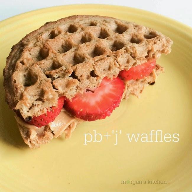 pb 'j' waffles white