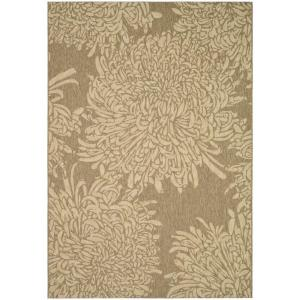 Martha Stewart Living Crysanthamum Rug in Coffee/Sand. (homedepot.com)