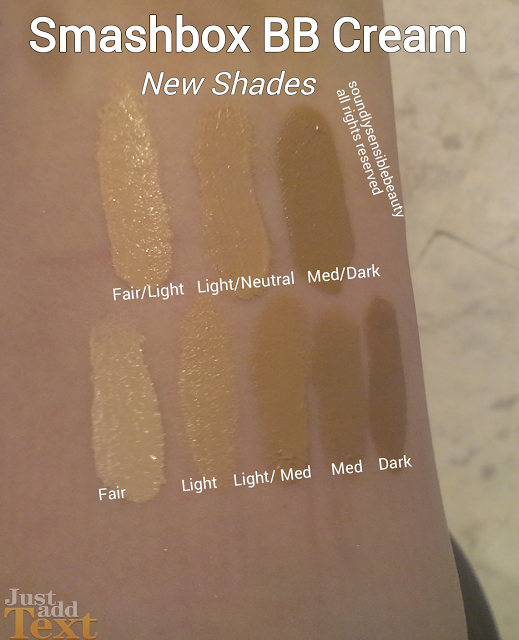 Smashbox Camera Ready BB Cream Swatches & NEW Shades, Fair, Light, Neutral, Medium, Dark