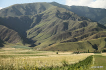 Kyrgyz/ Kazakh mountains at Lake Issyk Kul