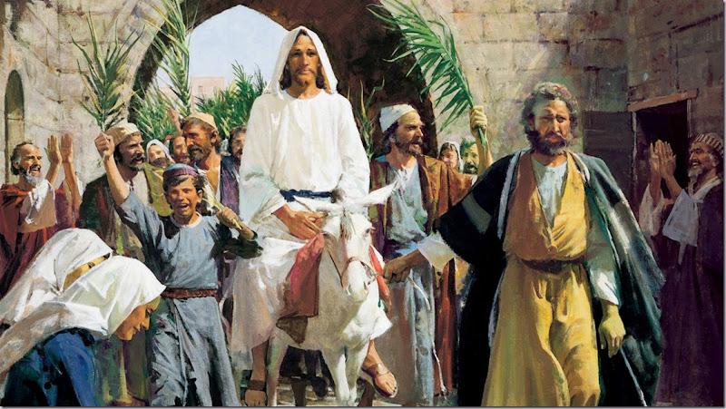 'HOSANNA TO THE KING' Palm Sunday JESUS Triumphal Entry