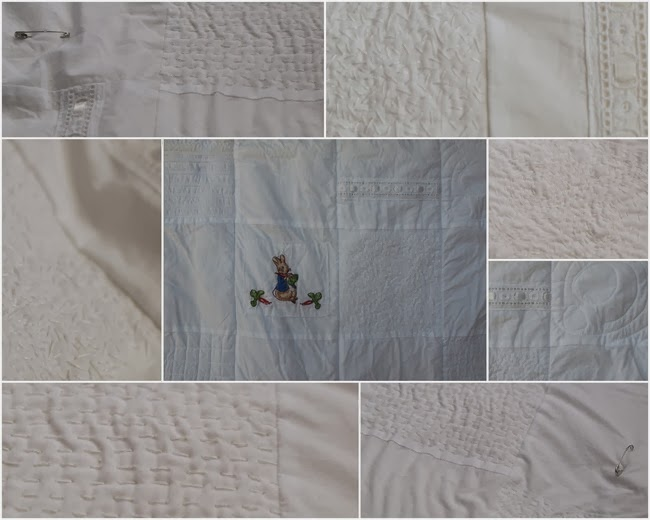 virtù - white on white bassinet quilt - stitches of pure love