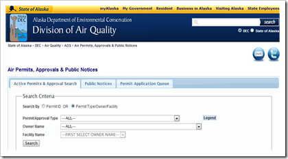 Alaska Division of Air quality Air permits