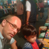 Christopher and I at the night market