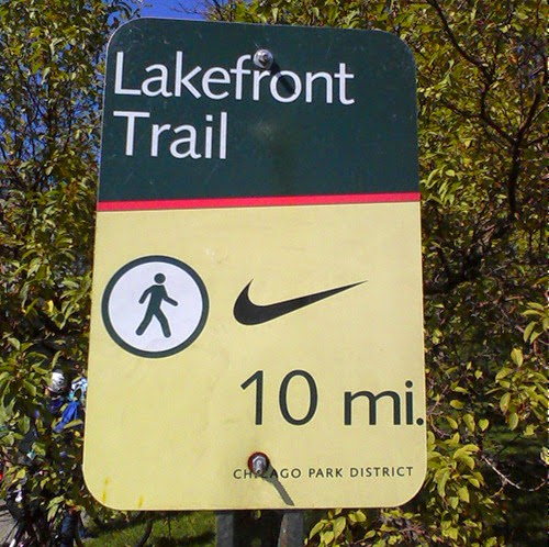 Lake Front Trail Sign