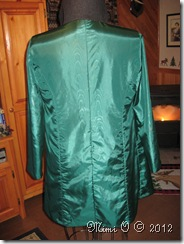 Back view showing the right side of the lining.