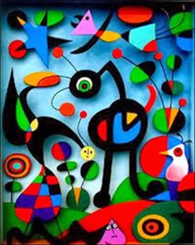 Miró o jardim