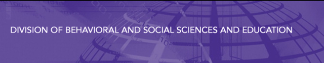 NAS banner for the Division of Behavioral and Social Sciences and Education. Graphic: NAS