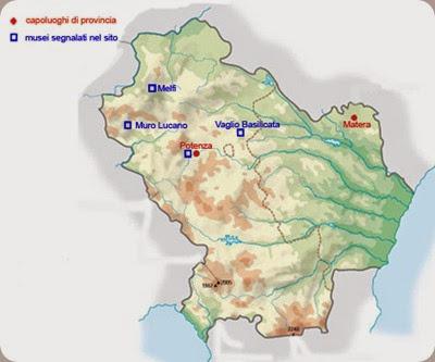 musei basilicata map