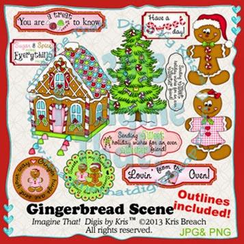 PROMO Gingerbread SceneM5D