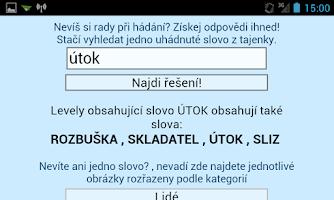 Screenshot of Pixwords pomocník česky
