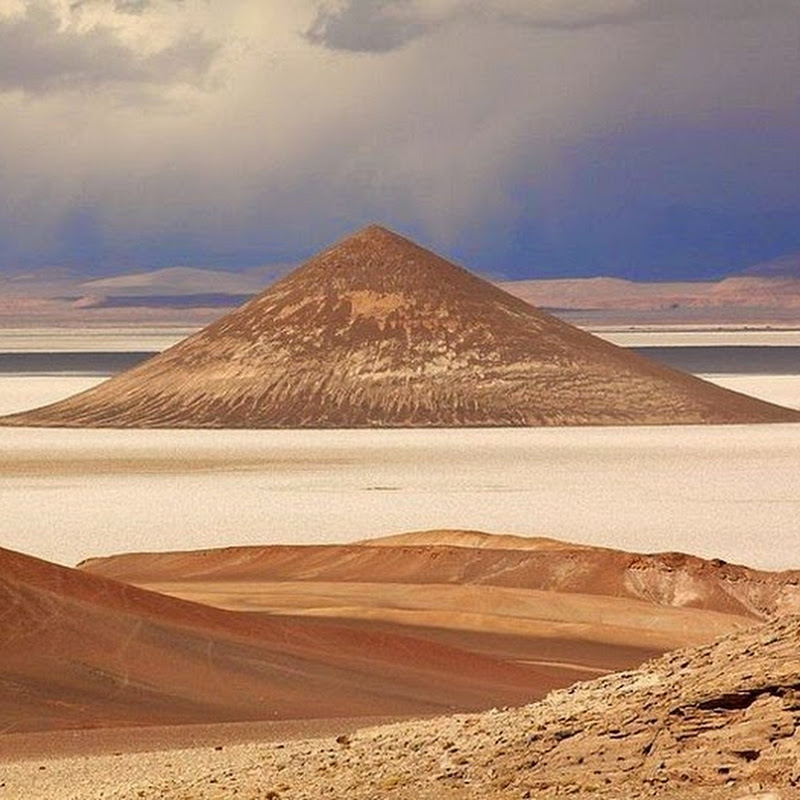 World Largest Salt Flat Cono de Arita in Argentina