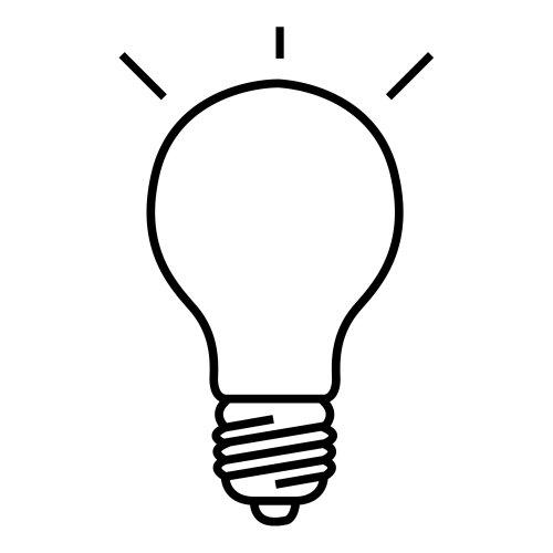 Desenho lampada para colorir for Mesa de dibujo con luz