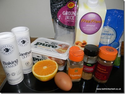 Gluten Free Festive Muffins Ingredients