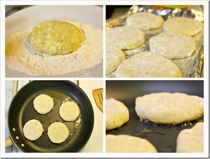 Potato Patties with Cheese Recipe | step by step instructions with photos of the process