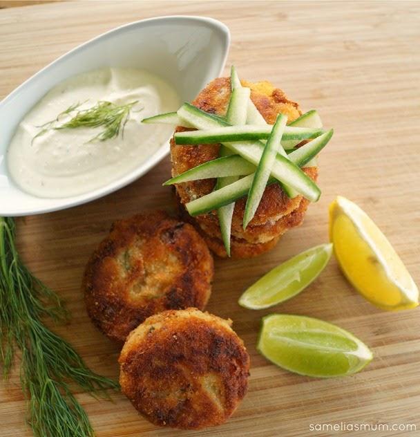 Fish Cakes with Lemon Cream Recipe