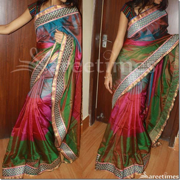 Multicolor_Silk_Saree